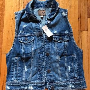 Denim Vest American Eagle Outfitters